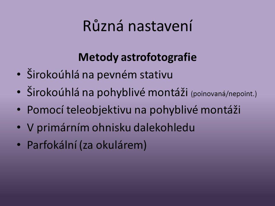 Metody astrofotografie