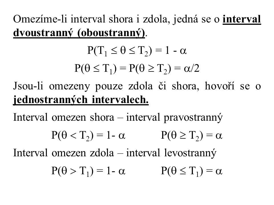 Omezíme-li interval shora i zdola, jedná se o interval dvoustranný (oboustranný).