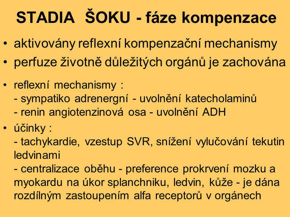 STADIA ŠOKU - fáze kompenzace