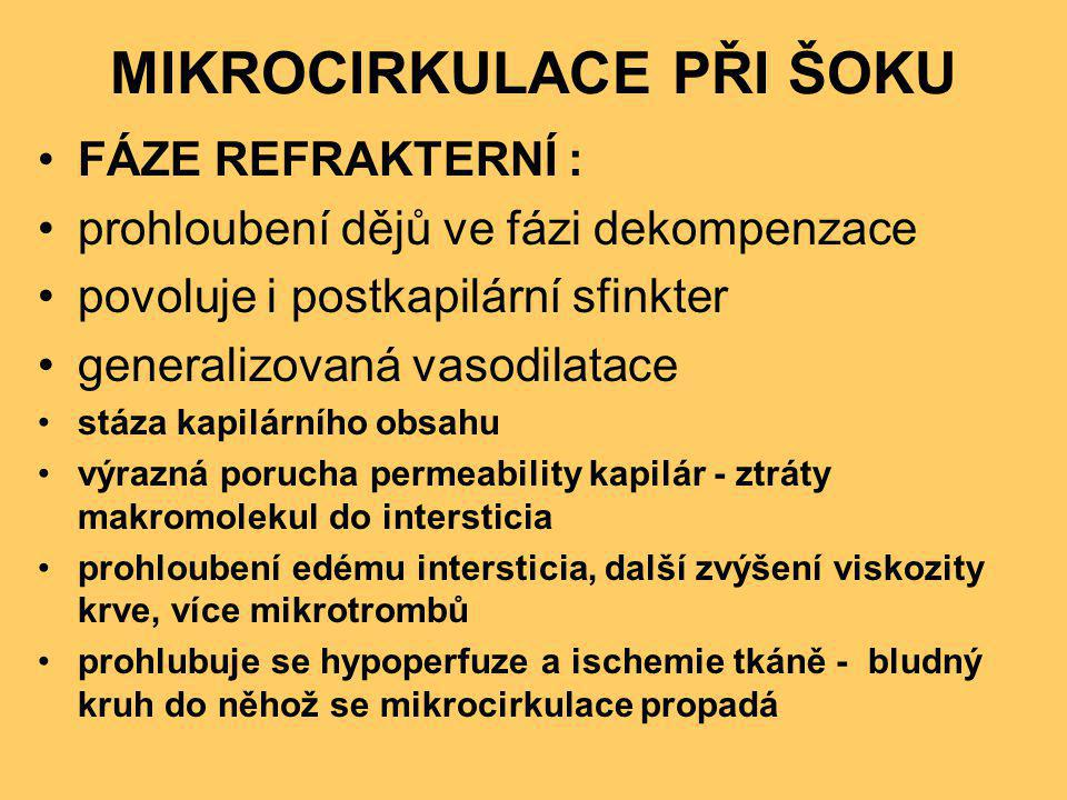 MIKROCIRKULACE PŘI ŠOKU