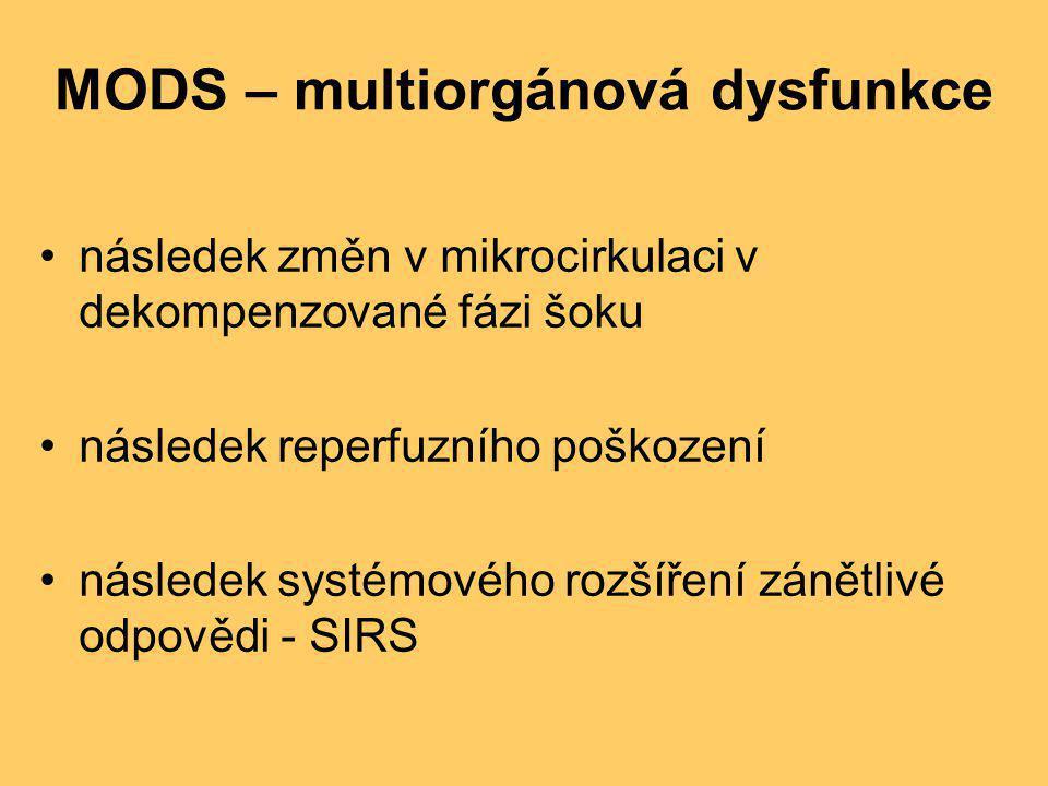 MODS – multiorgánová dysfunkce