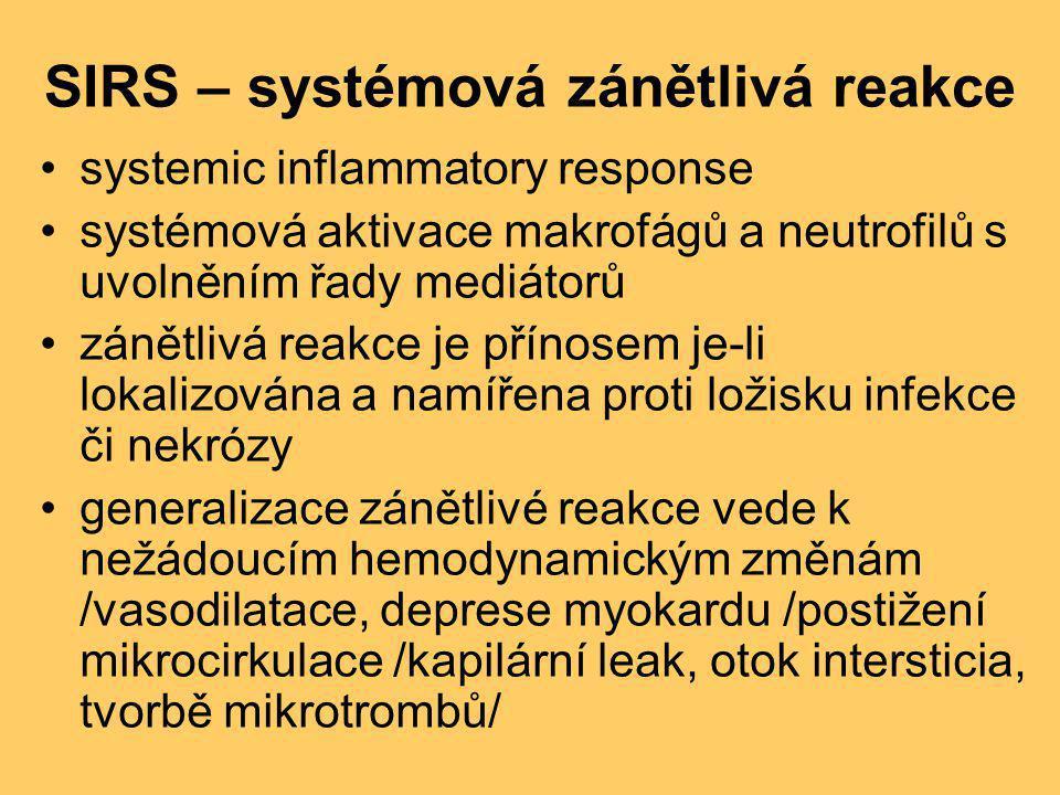 SIRS – systémová zánětlivá reakce