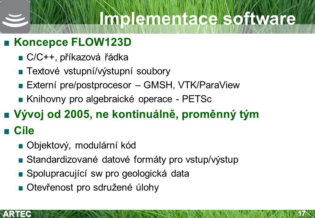 Implementace software