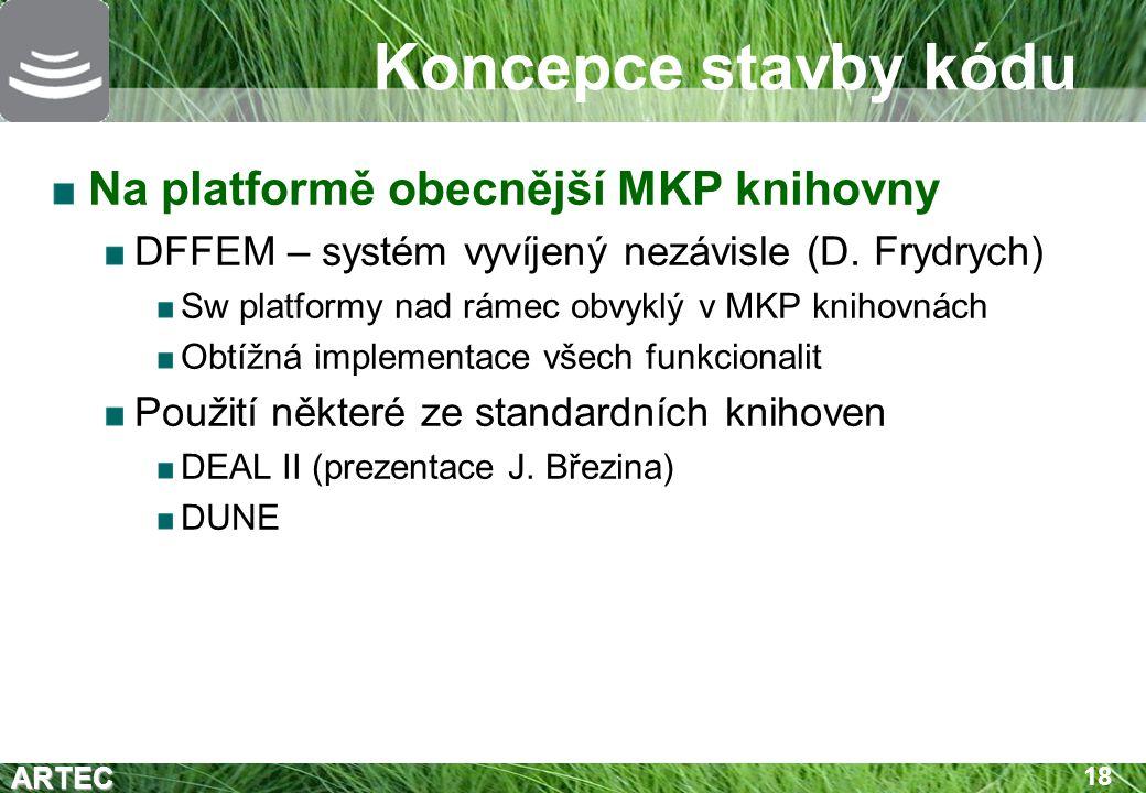Koncepce stavby kódu Na platformě obecnější MKP knihovny