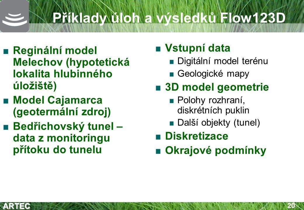 Příklady úloh a výsledků Flow123D