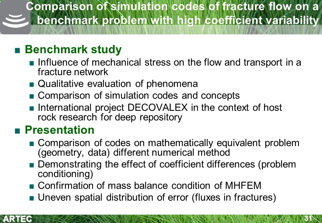Comparison of simulation codes of fracture flow on a benchmark problem with high coefficient variability