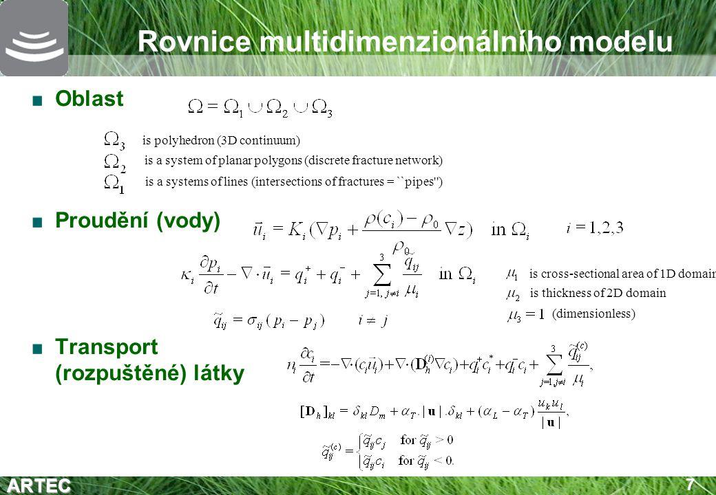 Rovnice multidimenzionálního modelu