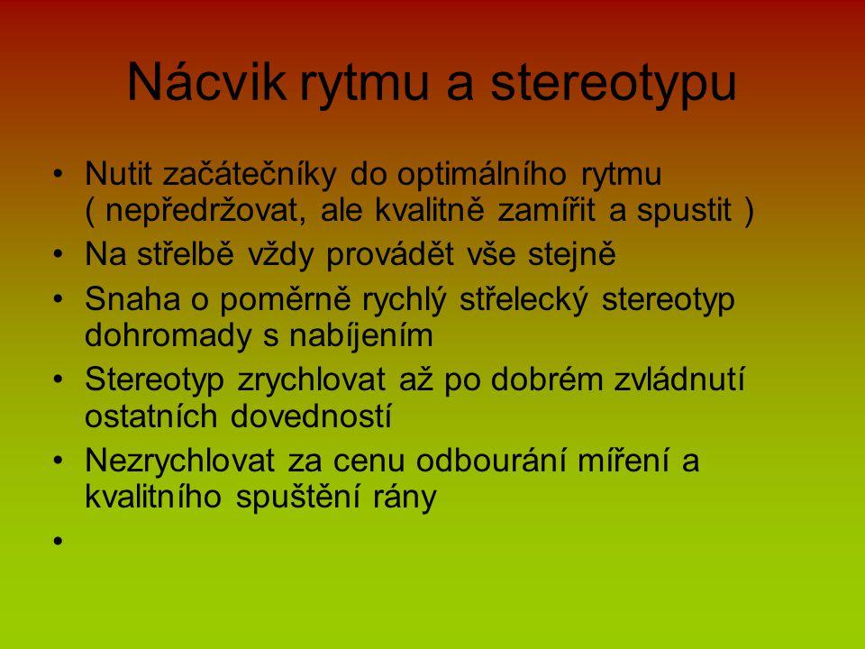Nácvik rytmu a stereotypu