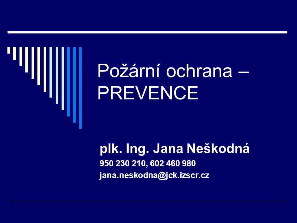 Požární ochrana – PREVENCE