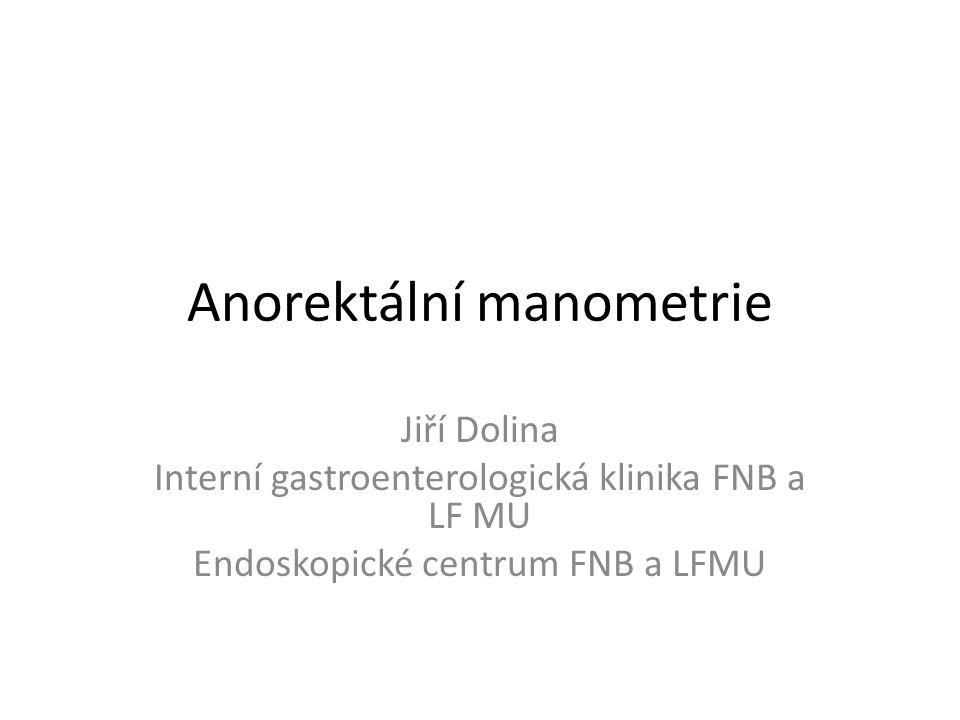 Anorektální manometrie