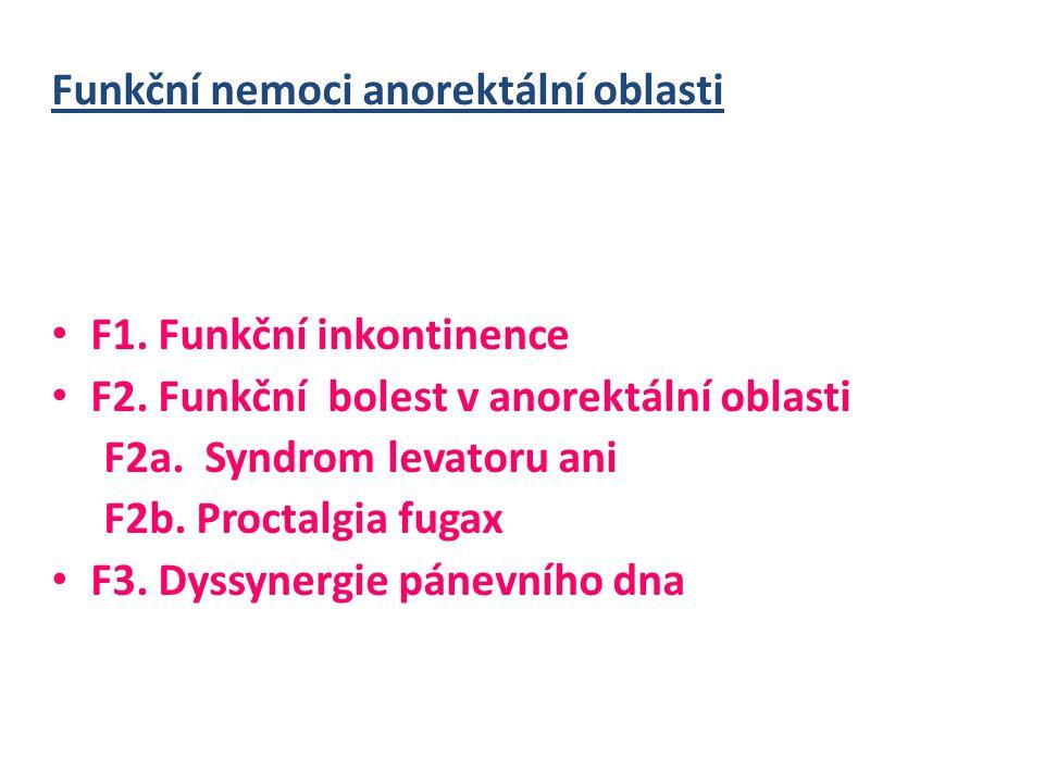 Funkční nemoci anorektální oblasti