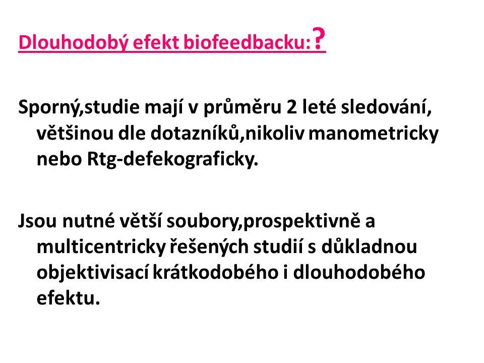 Dlouhodobý efekt biofeedbacku: