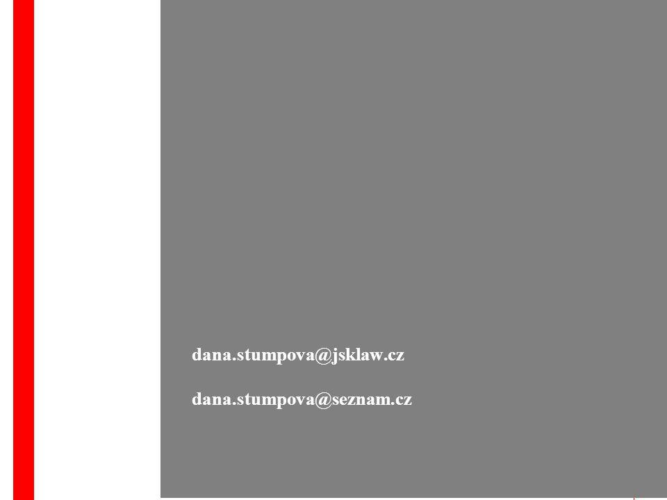 dana.stumpova@jsklaw.cz dana.stumpova@seznam.cz