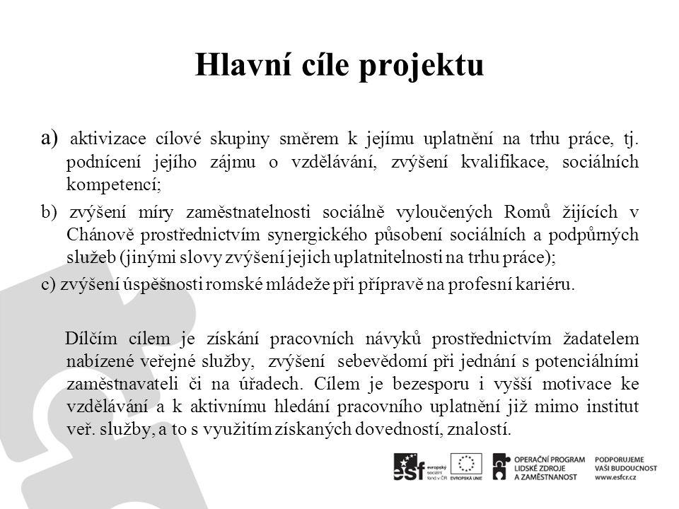 Hlavní cíle projektu