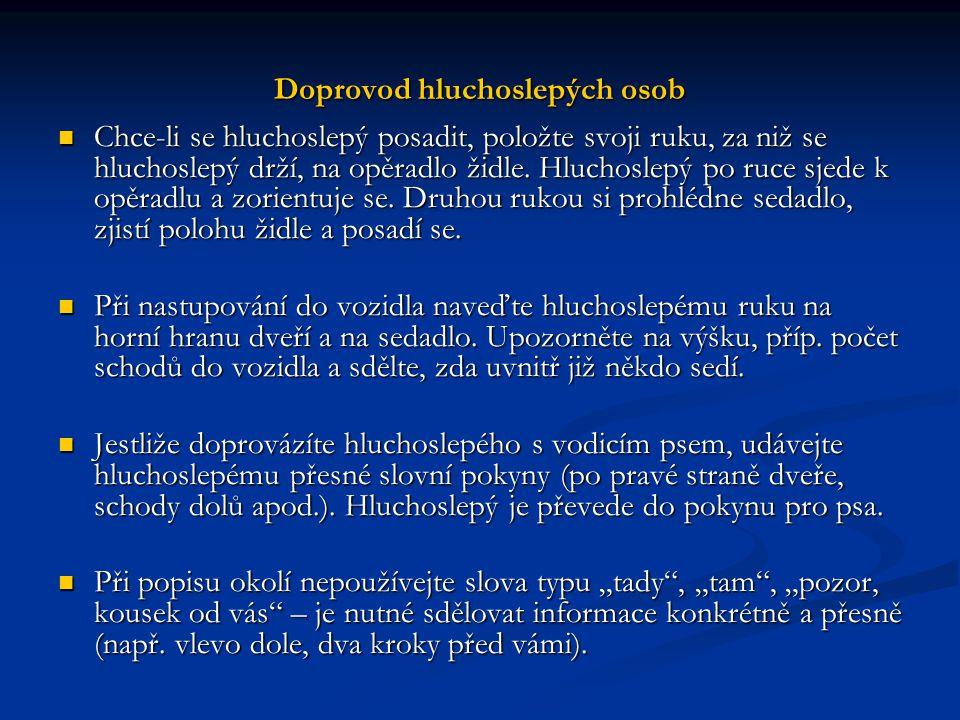Doprovod hluchoslepých osob