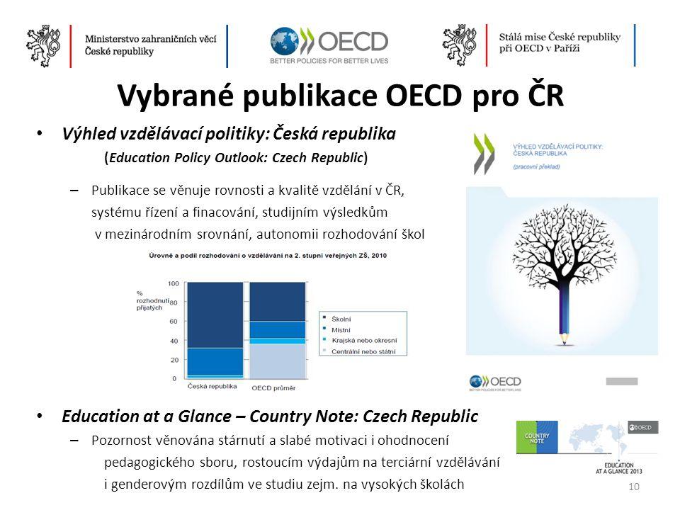 Vybrané publikace OECD pro ČR