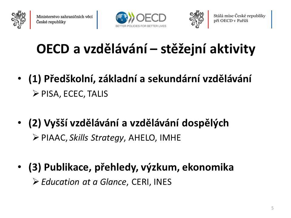 OECD a vzdělávání – stěžejní aktivity