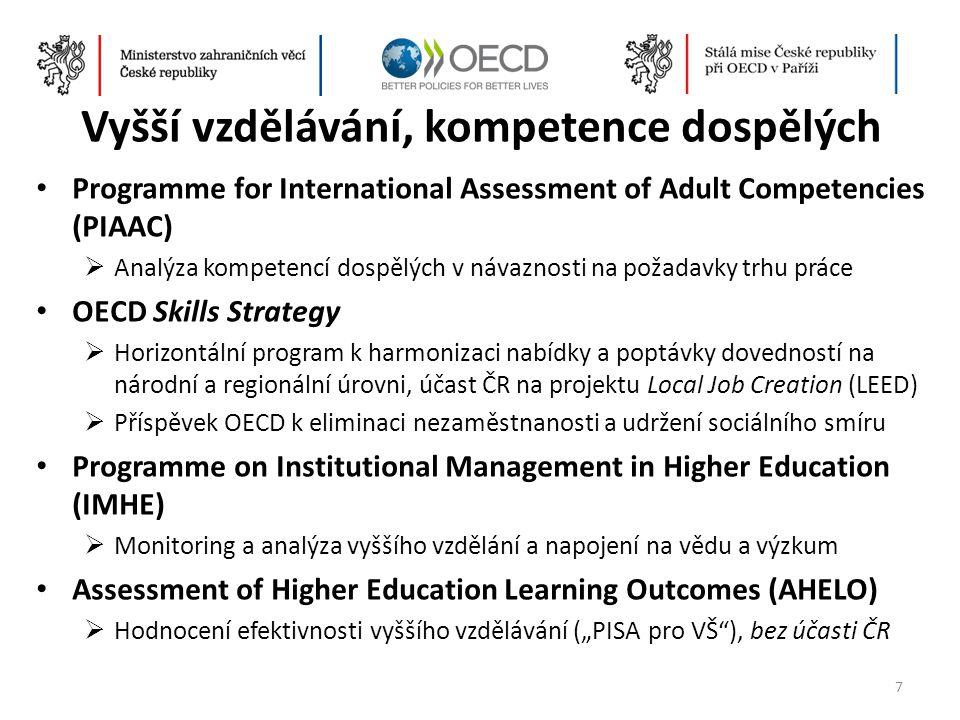 Vyšší vzdělávání, kompetence dospělých