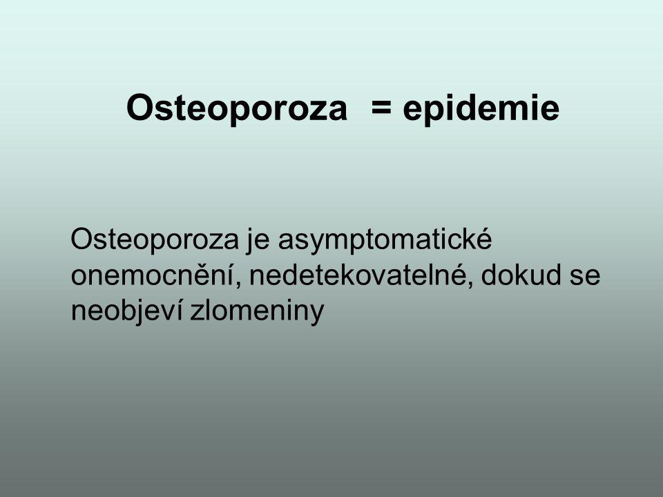 Osteoporoza = epidemie