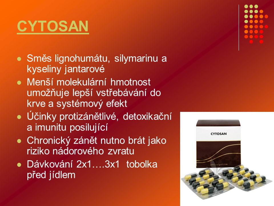 CYTOSAN Směs lignohumátu, silymarinu a kyseliny jantarové