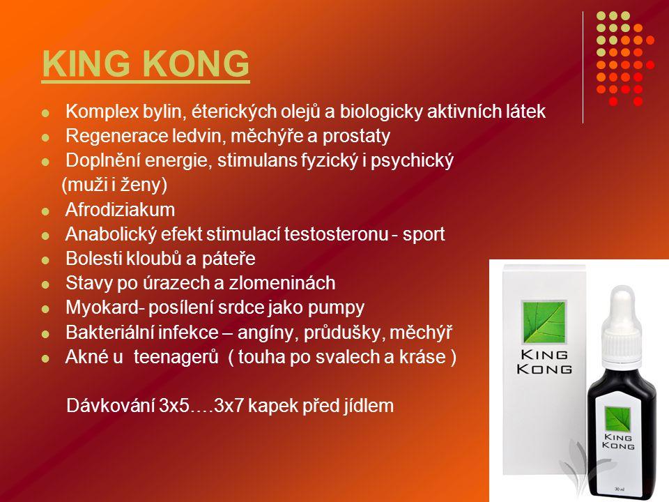 KING KONG Komplex bylin, éterických olejů a biologicky aktivních látek