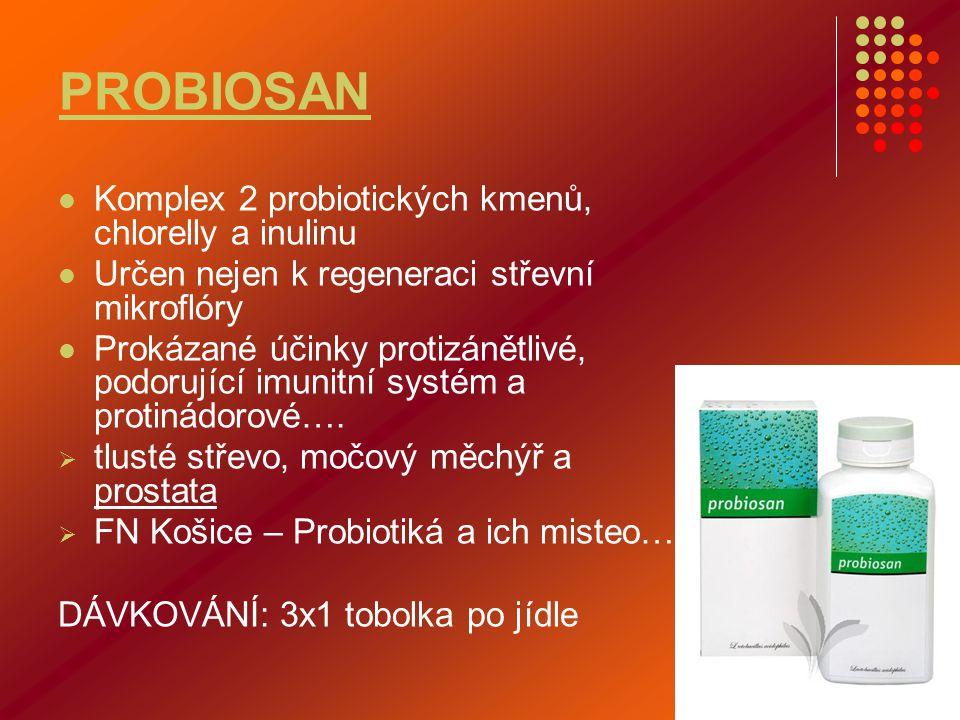 PROBIOSAN Komplex 2 probiotických kmenů, chlorelly a inulinu