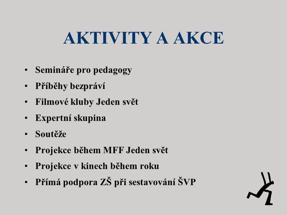 AKTIVITY A AKCE Semináře pro pedagogy Příběhy bezpráví