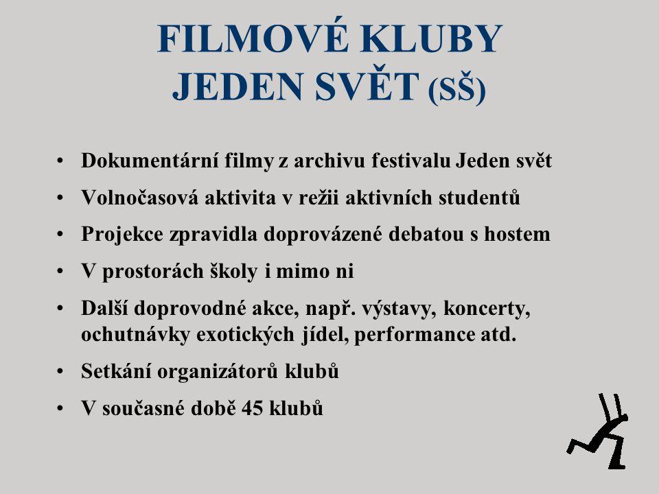 FILMOVÉ KLUBY JEDEN SVĚT (SŠ)