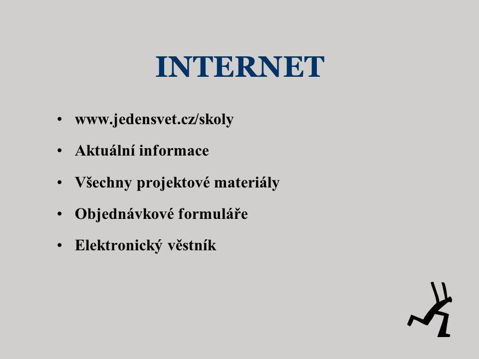 INTERNET www.jedensvet.cz/skoly Aktuální informace
