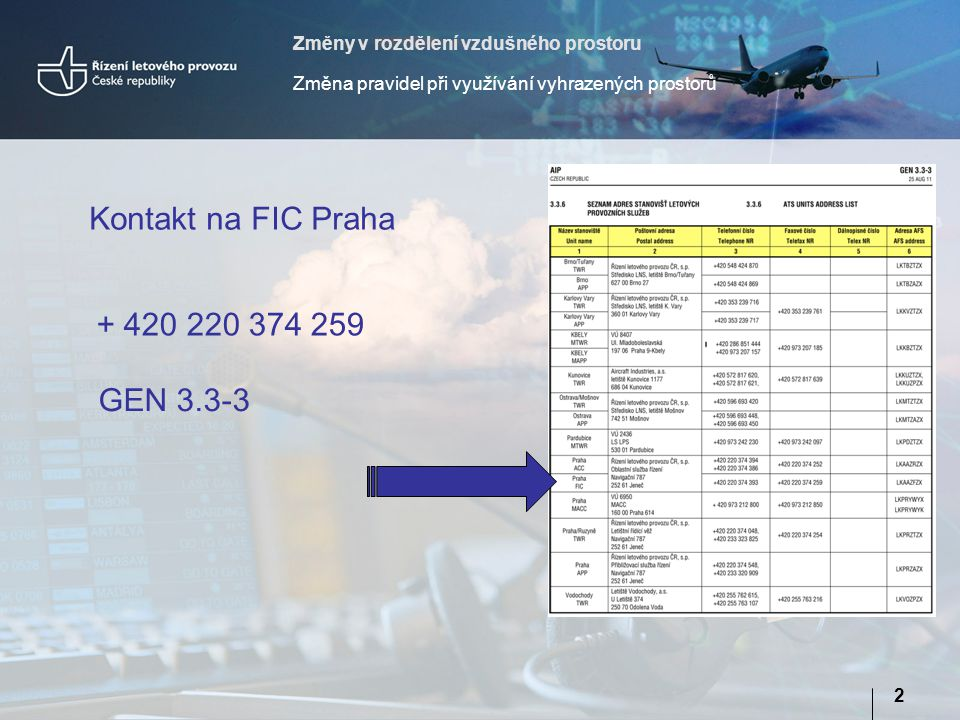 Kontakt na FIC Praha + 420 220 374 259 GEN 3.3-3