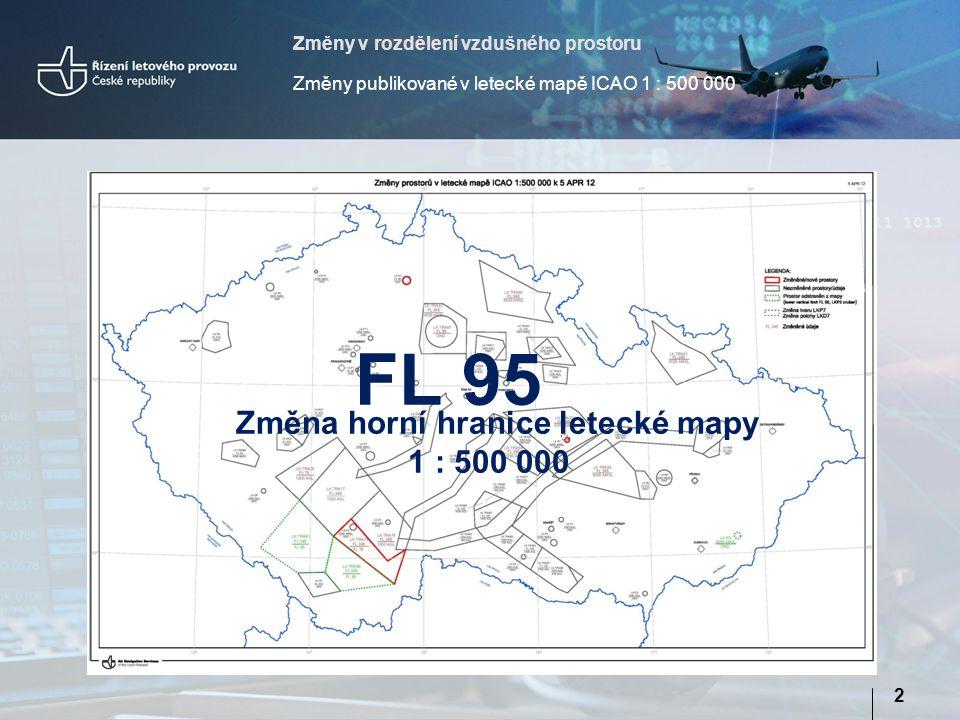 Změna horní hranice letecké mapy