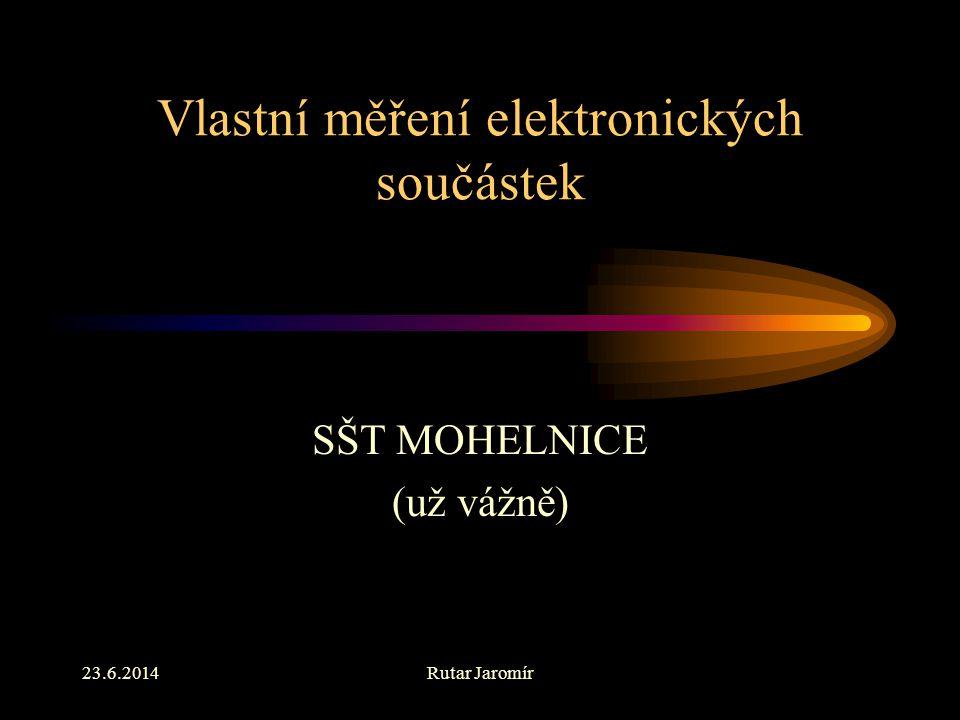 Vlastní měření elektronických součástek