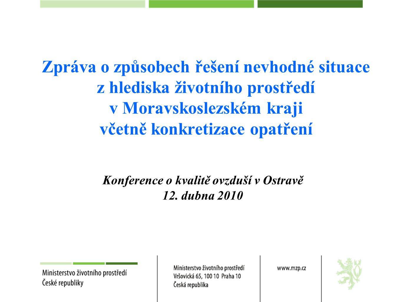 Konference o kvalitě ovzduší v Ostravě 12. dubna 2010