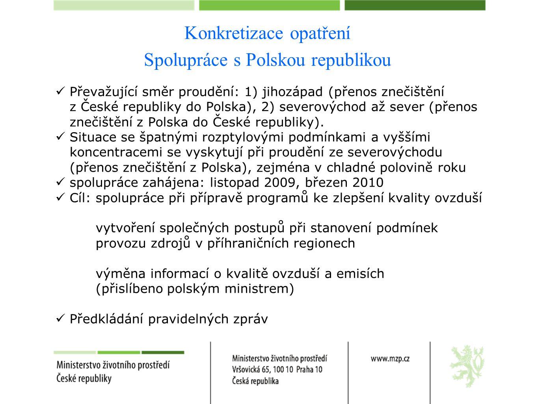 Konkretizace opatření Spolupráce s Polskou republikou