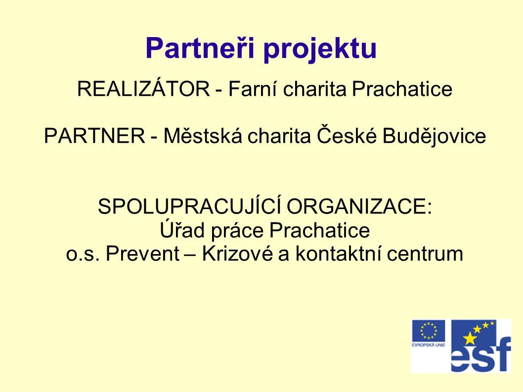Partneři projektu REALIZÁTOR - Farní charita Prachatice