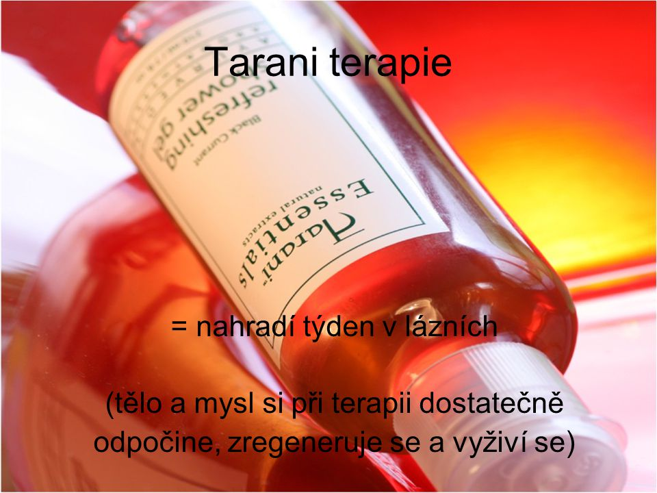 Tarani terapie = nahradí týden v lázních