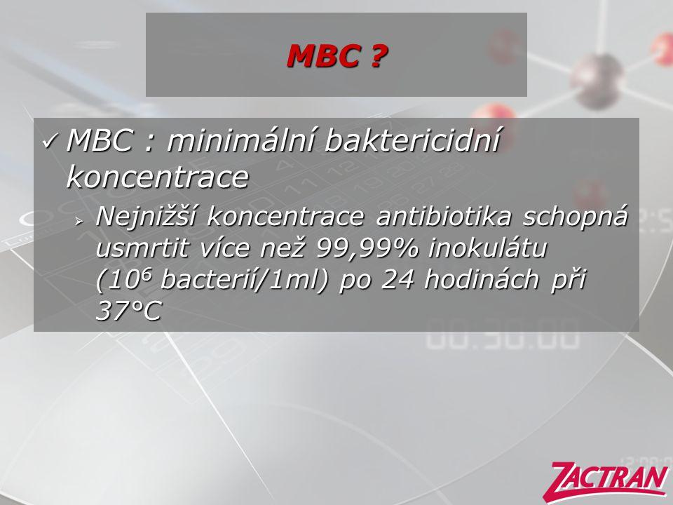 MBC : minimální baktericidní koncentrace