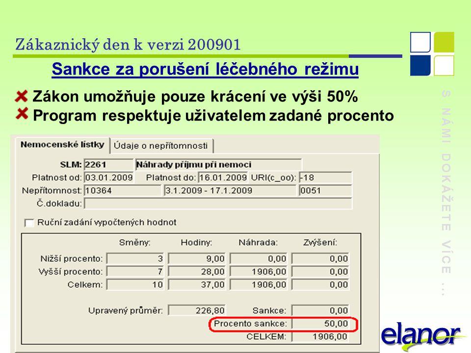 Sankce za porušení léčebného režimu