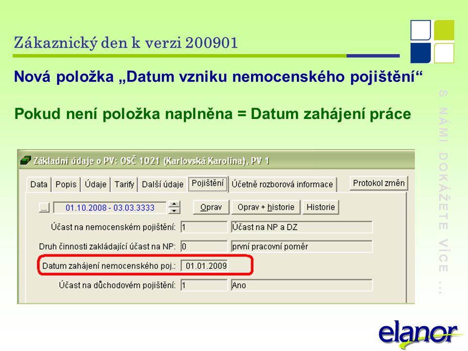 """Nová položka """"Datum vzniku nemocenského pojištění"""