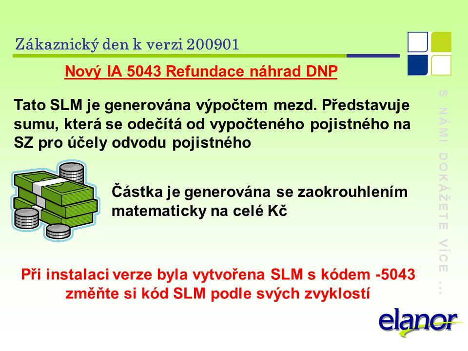 Nový IA 5043 Refundace náhrad DNP