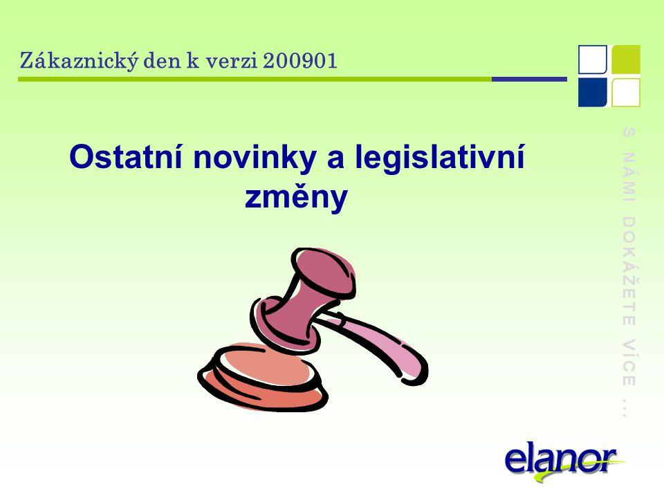 Ostatní novinky a legislativní změny