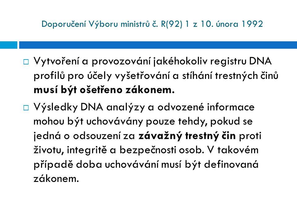 Doporučení Výboru ministrů č. R(92) 1 z 10. února 1992