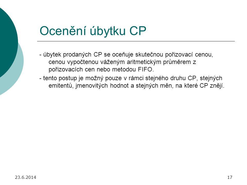 Ocenění úbytku CP
