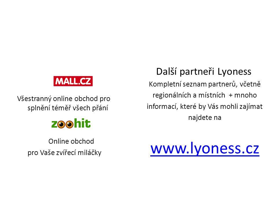www.lyoness.cz Další partneři Lyoness