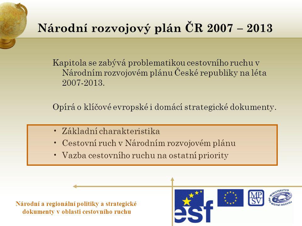 Národní rozvojový plán ČR 2007 – 2013