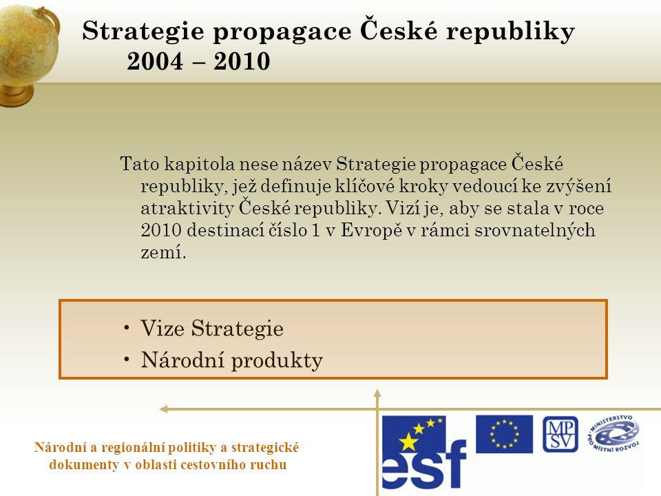 Strategie propagace České republiky 2004 – 2010