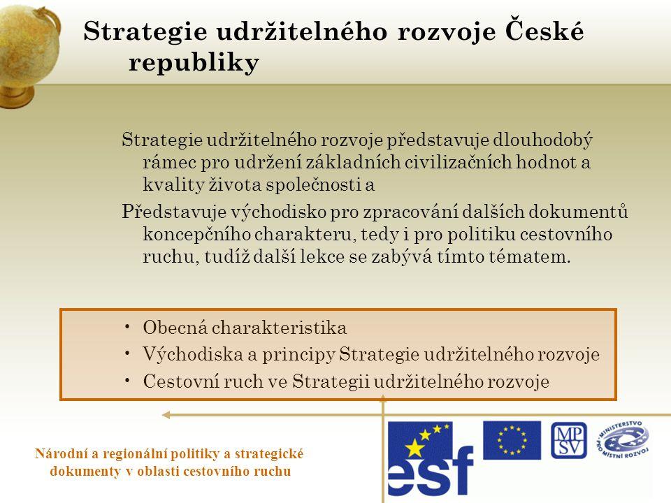 Strategie udržitelného rozvoje České republiky