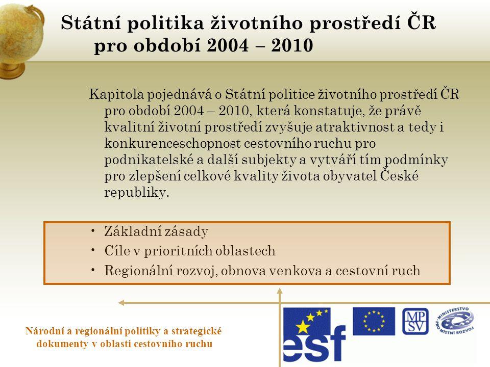 Státní politika životního prostředí ČR pro období 2004 – 2010