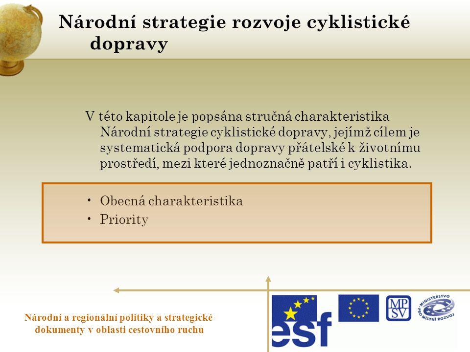 Národní strategie rozvoje cyklistické dopravy