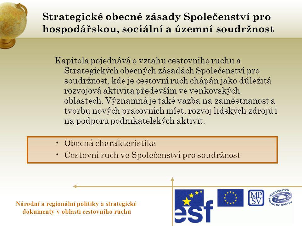 Strategické obecné zásady Společenství pro hospodářskou, sociální a územní soudržnost